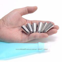 силиконовый кондитерский мешок  насадки