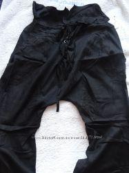 Новые стиляжные брендовые брюки с матней, С-М