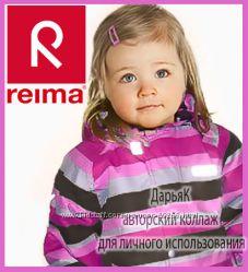 Рейма ТЕК зима  малиновый полосатик цельный термо-комбинезон