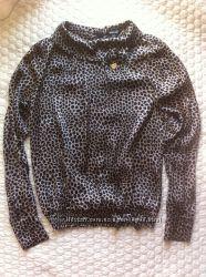 Леопардовая блузка из натурального шелка Carla