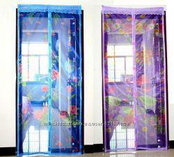 Антимоскитная сетка штора на дверь на магнитах
