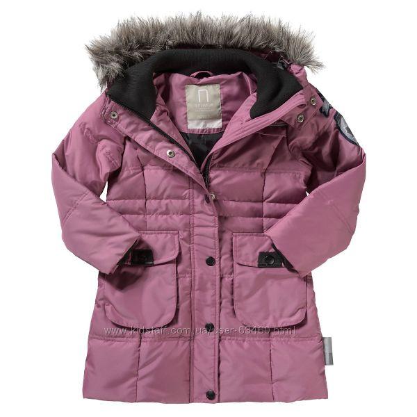 D-824 Пуховое пальто для девочки NAME IT р. 164. Есть изъян