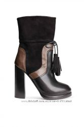 Продам красивые полусапожки Leather and suede boots  H&M