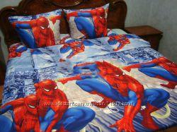 постель с мультяшками, спайдермен, дора, даша, тачки, винкс