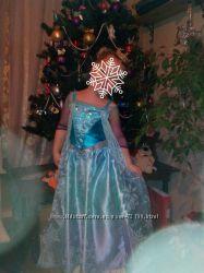 светящийся костюм платье принцессы Эльзы Frozen
