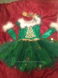 Карнавальные костюм, платье елочки елка