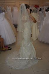 Свадебное платье - рыбка размер S, M