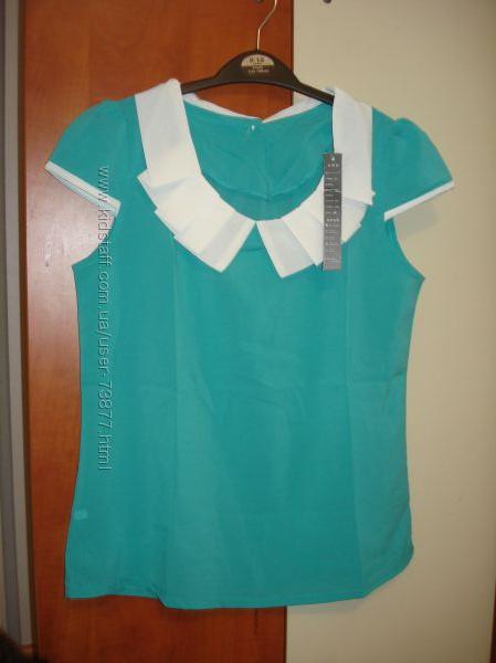 Блузка с воротничком, подойдет и школьнице