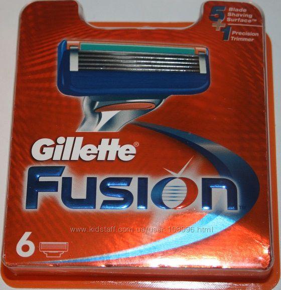 Gillette fusion оригинал упаковки 14, 12, 8, 6, 5 шт 3 и 4 шт без упак пошт