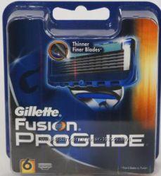 Лезвия GILLETTE Fusion proglide оригинал Германия 6 штук в упаковке