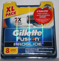 Сменные лезвия GILLETTE Fusion proglide оригинал Германия 8 штук в упаковке