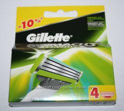 Gillette Mach 3 sensitive упаковка 4 штуки оригинал Германия