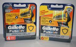 Супер новинка от Gillette сменные картриджи Fusion Proshield оригинал