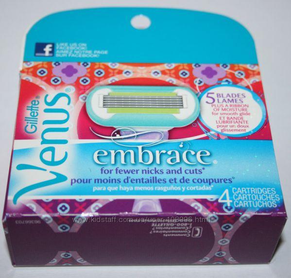 Женские картриджи GILLETTE Venus Embrace 4 штуки в упаковке оригинал США