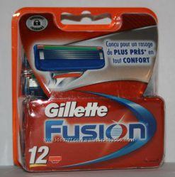 Лезвия GILLETTE Fusion оригинал Германия 12 штук в упаковке