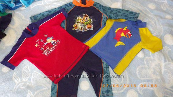 UV-защитная футболка и комбезик DISNEY, 1-4 года, состояние отл и хор