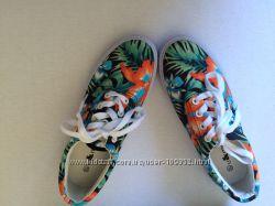 Новые яркие лоаферы на шнурках- размер 37
