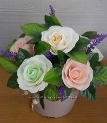 Букеты и цветы из фоамирана, порадуйте себя красотой круглый год