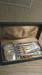 Подарочный набор столовые ложки, мельхиор серебрение