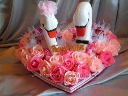 Свадебные аксессуары из конфет