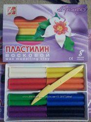 Пластилин Восковый Луч Премиум 8, 12, 18 цв
