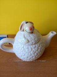 Чайник овечка керамика 23х13х14см