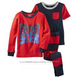 Пижама тройка для мальчика 2т, 3т, 4т Картерс 83-86см. Carters США. Светитс