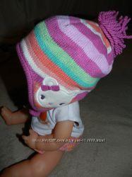 теплая шапочка девочке на 0-6 мес Джимобри США