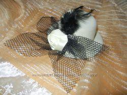 Декоративные шляпки с вуалью, вуалетки