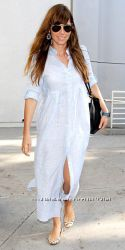 Платье пляжное, туника пляжная из натурального льна. Льняное платье, туника