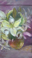 картина лилии белые