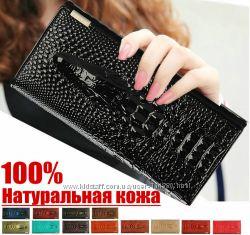 Кожаный женский кошелек CROCODILE