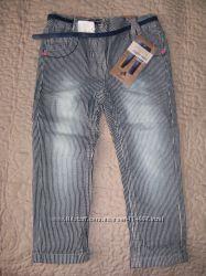 Новые джинсики C&A с пояском, р-р 92