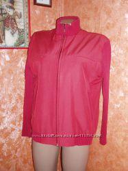 Куртка с трикотажными рукавами р. 46