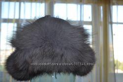 шапка с натуральным мехом