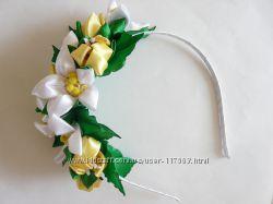 Нежный цветочный ободок