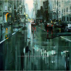Картина маслом город , копия Jeremy Mann