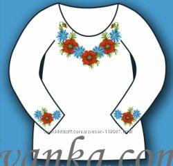 Сорочка под вышивку для девочки в наличии