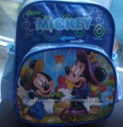 Яркие дошкольные рюкзачки для деток  Даша и Микки
