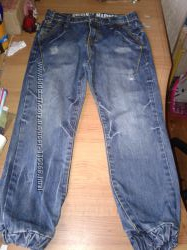 Модные джинсы джоггеры 8 лет