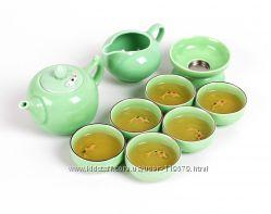 Фарфоровый чайный набор TeaSoul ручной работы, подарочный