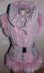 Жилетка Vladi Mix с мехом песца нежно- розового цвета