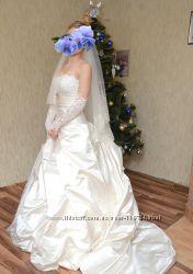 Свадебное платье цвета айвори - никакого фатина