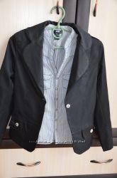 Пиджак школьный черный, юбки, сарафан, блузки