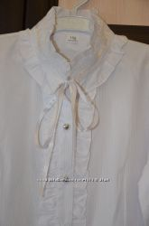 Стильная белая блуза, 158 рост