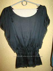 Черная стильная блуза