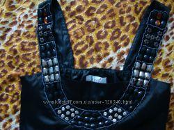 черный сарафан платье с камнями