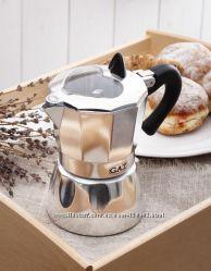 Гейзерная кофеварка GAT Valentina 2, 3, 6 чашек как Bialetti