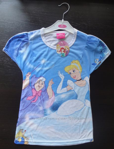 Яркие футболки Disney Ариэль, Жасмин, Белоснежка, Эльза