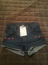 Новые джинсовые шорты НМ, размер 92